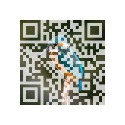 Abb. 2: QR-Code mit hinterlegtem Foto