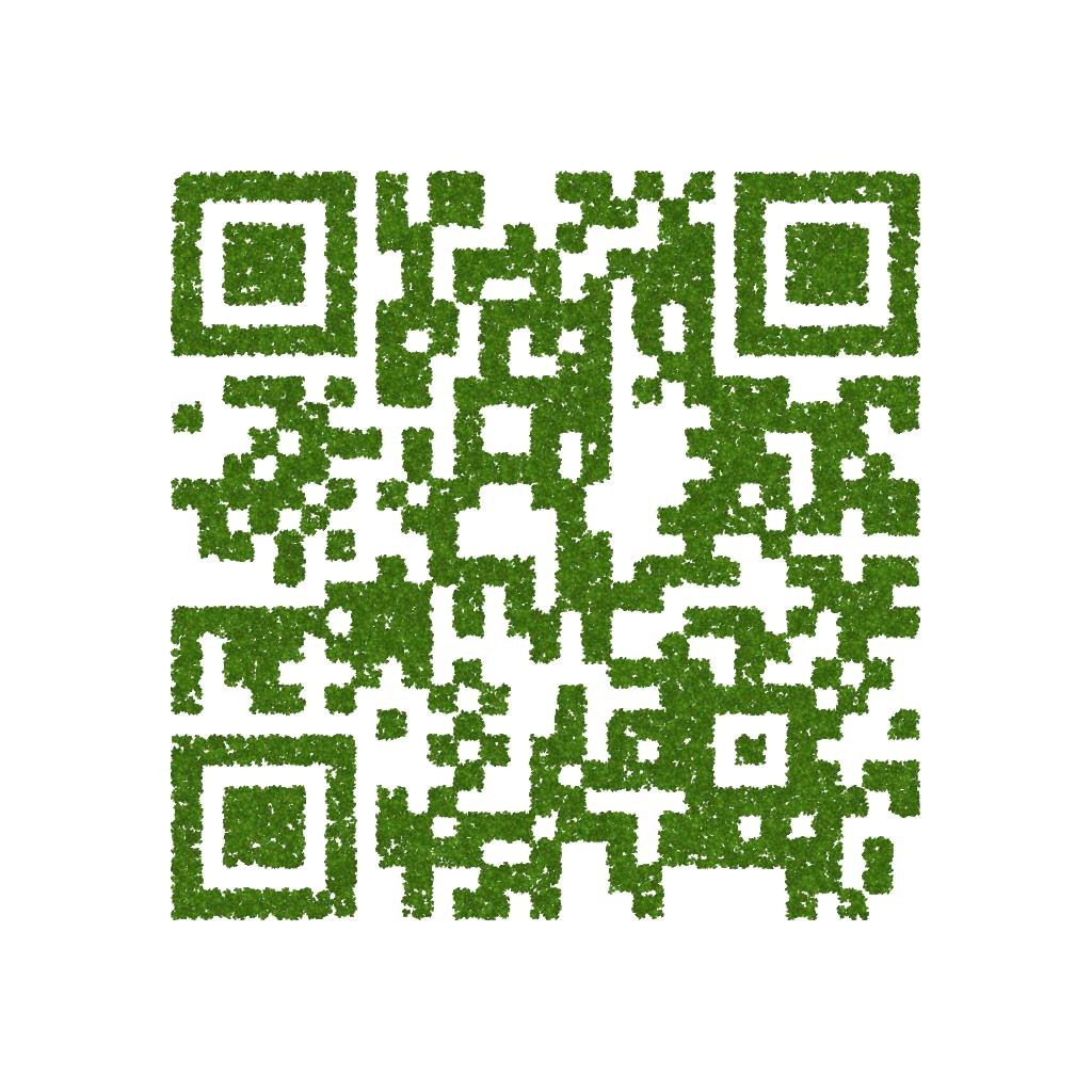 Abb. 8: QR-Code aus Efeublättern